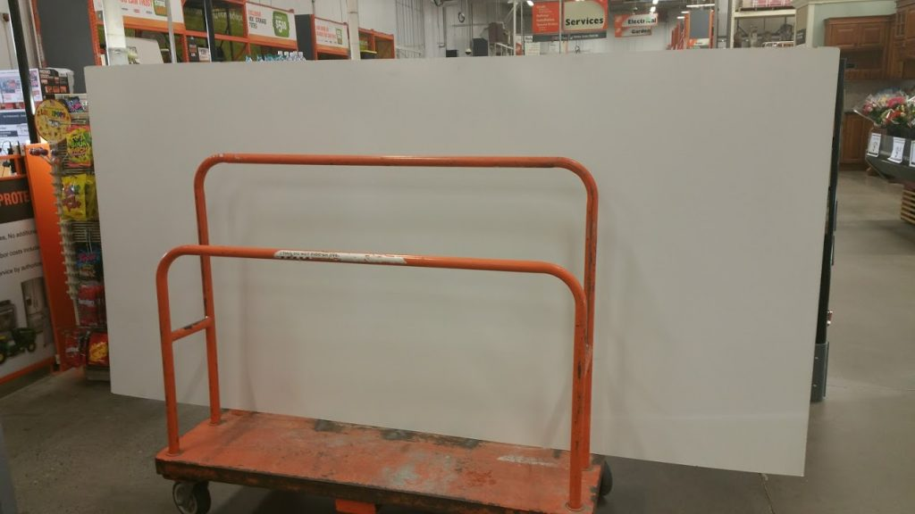 4x8 White Panel Boards from Home Depot