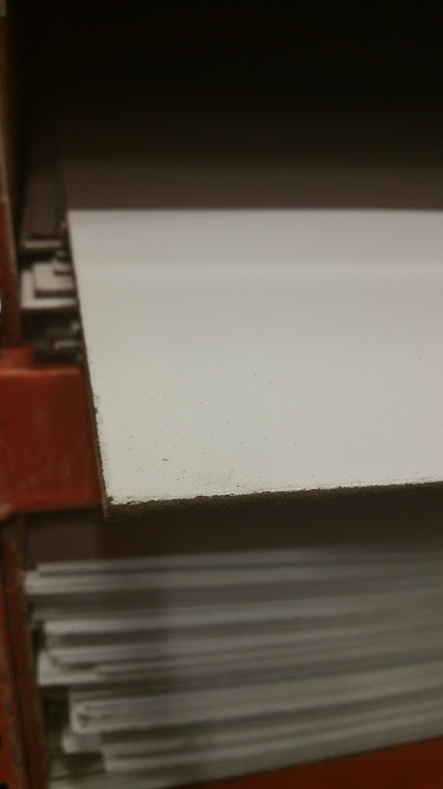 White panel board material